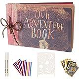 AIOR Album Photo Scrapbooking Our Adventure Book, Traditionnel DIY Scrapbook, Scrapbooking à Decorer Livre d'or, Cadeau Origi