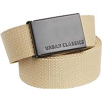 Urban Classics Canvas Belt Cintura con Fibbia Scorrevole in Metallo, Regolabile, 100% Poliestere, Lunghezza 118 cm…