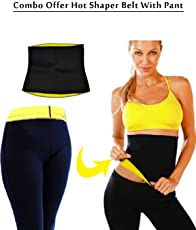 Sudesh mart Combo Hot Shaper waist Pants And Hot Shaper slimming Belt For man & Women