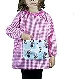 KLOTTZ - Babi sin botones con bolsillo tela Minnie para guardería Niñas