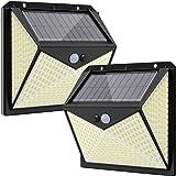 350 LED Solar Security Lights Outdoor, Hepside Solar Motion Sensor Lights met 3 Verlichtingsmodi, Waterdichte Draadloze Solar