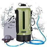 WADEO Sac de Douche de Camping Portable pour Couple de Chauffage Solaire avec Une capacité de 12L avec indicateur de températ