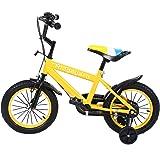 MuGuang 14 Pouces Vélo Enfant Étude d'apprentissage équitation Vélo Garçons Filles Vélo avec Stabilisateurs Vélo avec Bell pour Enfant de 3 à 8 Ans
