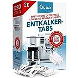 Détartrant Tablettes pour machine à café - 20x Comprimés détartrants compatible avec Tassimo Delonghi Saeco Senseo Durgol Phi