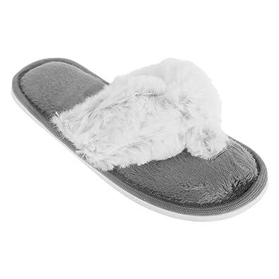 Universal Textiles Childrens Girls Mottled Supersoft Toe Post Flip Flop  Slippers (UK Shoe 13,