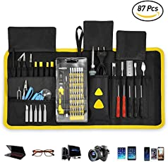 ACCEWIT 87 in 1 Kit Cacciaviti Professionale Set cacciaviti di precisione Strumenti di riparazione professionali per iPhone X, 8, 7 e sotto/cellulare/Computer/Tablet/Xbox/PlayStation/elettronica