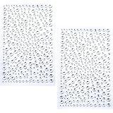 eBoot 650 Pièces Strass Autocollants Cristal Auto Adhésif Gems (Transparent)