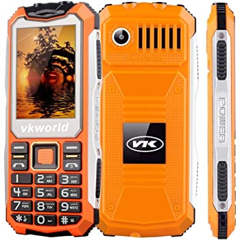 VKworld Stone V3S Telefono Cellulare quotidiana impermeabile Shockproof antipolvere standby lungo al di fuori di GSM telefonia mobile.(Doppio slot per sim,Bluetooth, Big Button tastiera, 2.4 pollici, a doppio LED torcia elettrica.)