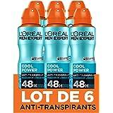 L'Oréal Men Expert Cool Power Déodorant Spray Homme - 200 ml - Pack de 6
