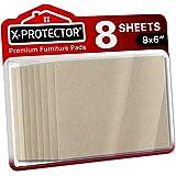 Fieltro adhesivo X-PROTECTOR – Deslizadores para muebles – 8 Premium fieltro autoadhesivo de 5 mm de grosor 20x16cm - Almohad