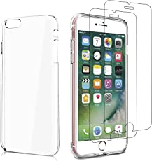 V-Ted iPhone 5 5S SE Hülle Schutzhülle Silikon +[2 Stück] Panzerglas Schutzfolie