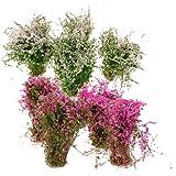 Hellery 8 stycken marktäckare modell lila för järnvägsgata byggnad landskap gör-det-själv