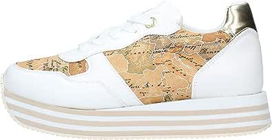 ALVIERO Martini Sneaker Stringata Bianco Geo Bianco MOD. N08910208 Bianco Geo Beige Bianco