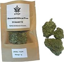 GANJA Tee DYNAMITE 15% I Premium Qualität 1g (1000mg) I Made in Austria I Naturbelassen, Vegan & Deutsches Zertifikat in...