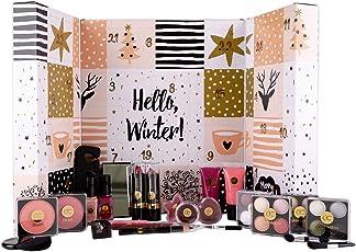 Beauty-Adventskalender für Mädchen & Frauen, 24 Schminke & Nagel-Pflege Produkte, XXL Format