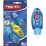 Tipp-Ex Micro Tape Twist Rubans Correcteurs 8 m x 5 mm - Corps Couleurs Assorties, Blister Format Spécial de 3