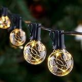 GlobaLink Lichtketting voor buiten, 11,7 m, G40 lichtketting, gloeilampen, tuin, lichtketting, terras, waterdicht, IP65 met 3