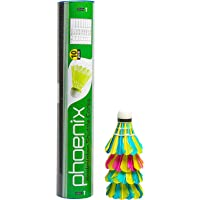 Prokyde Phoenix 101 ShuttleCocks Feather (Pack of 10, Multicolor)
