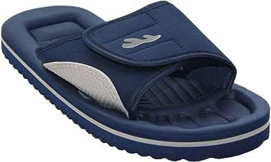 PDQ New Mens Lightweight Slip On Touch Strap Summer Beach Mules Flip Flops UK 6-12