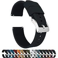 Barton, Cinturino Elite per orologio, in silicone, a sgancio rapido, colore a scelta, 18 mm, 19 mm, 20 mm, 21 mm, 22 mm…