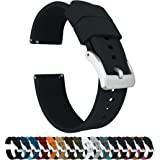 Barton, Cinturino Elite per orologio, in silicone, a sgancio rapido, colore a scelta, 18 mm, 19 mm, 20 mm, 21 mm, 22 mm, 23 m