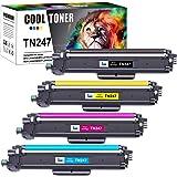 Cool Toner Cartouche de Toner Compatible pour Brother TN-243CMYK TN247 MFC-L3750CDW DCP-L3550CDW MFC-L3770CDW HL-L3210CW HL-L
