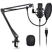 YOTTO USB Microfono a Condensatore Kit 192kHZ/24bit Microfono di Registrazione per Computer PC YouTube con Filtro…