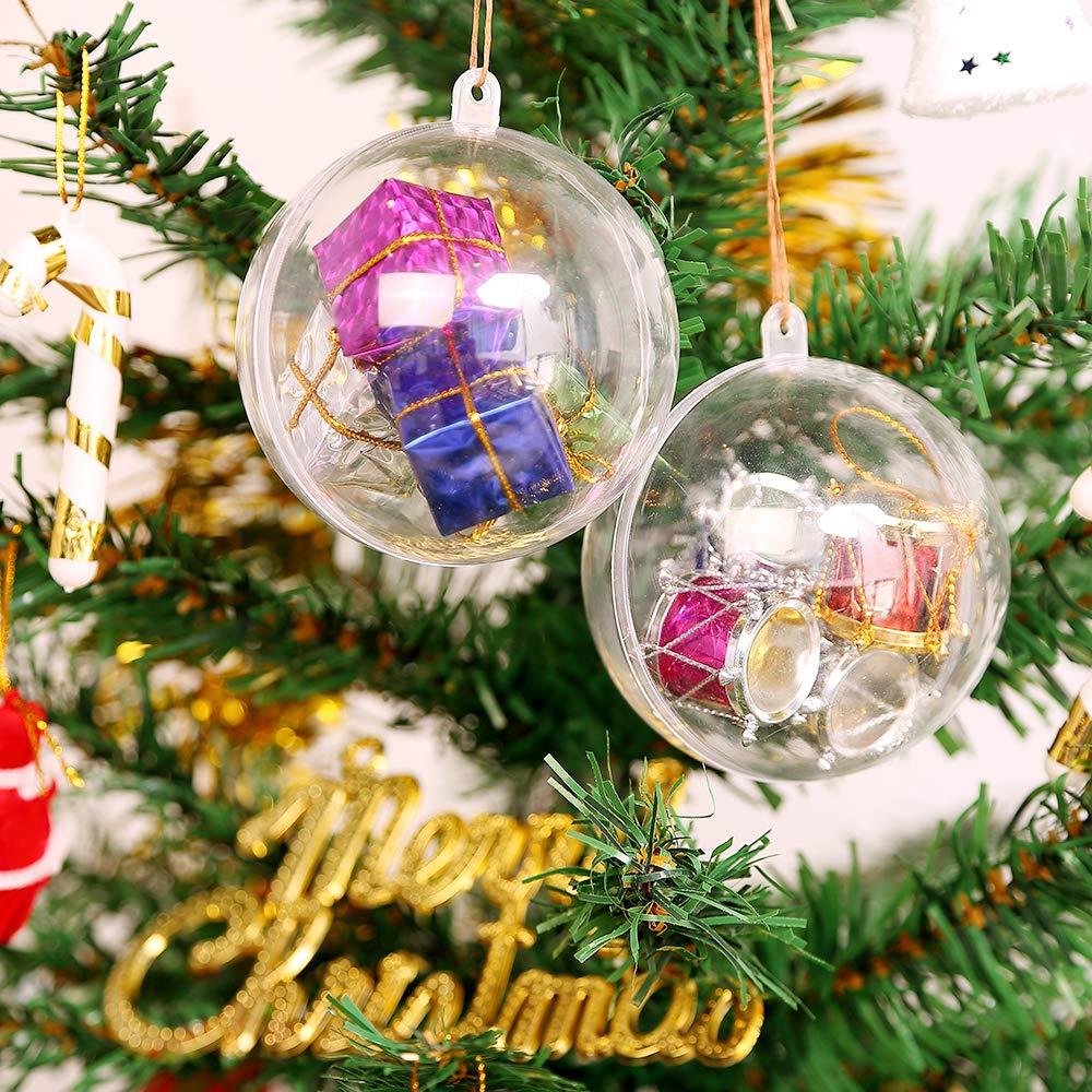 Uten 20pcs Christmas Baubles Christmas Tree Decorations Clear