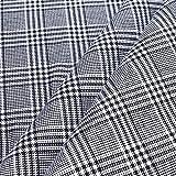 10 Meter Stoff Baumwolle Glencheck schwarz weiß fest