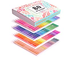 Colouring Pencils,80 Drawing Pencils,Oil Pencils for Drawing, Sketching, Shading, Coloring,Coloured Pencils for Adults