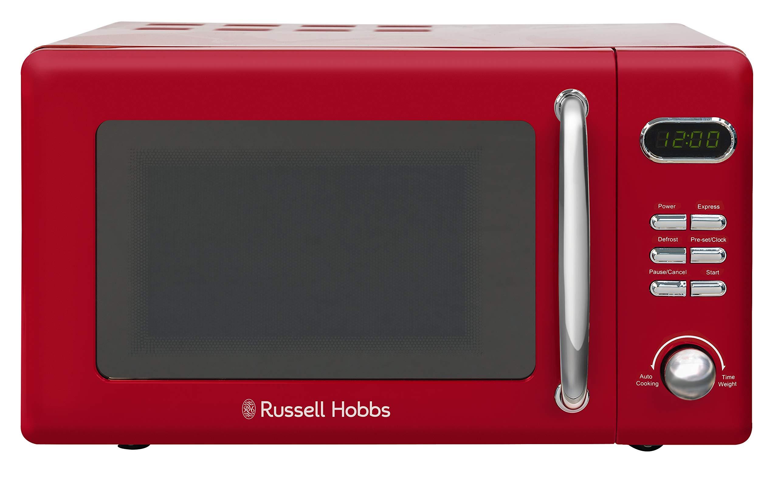 71B7cR5oNVL - Russell Hobbs RHRETMD806R Solo Microwave, Red, 17 liters