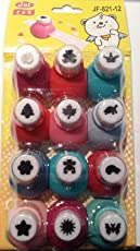Jef Set Of 12 Craft Punches To Make School Projects Attractive & Easier
