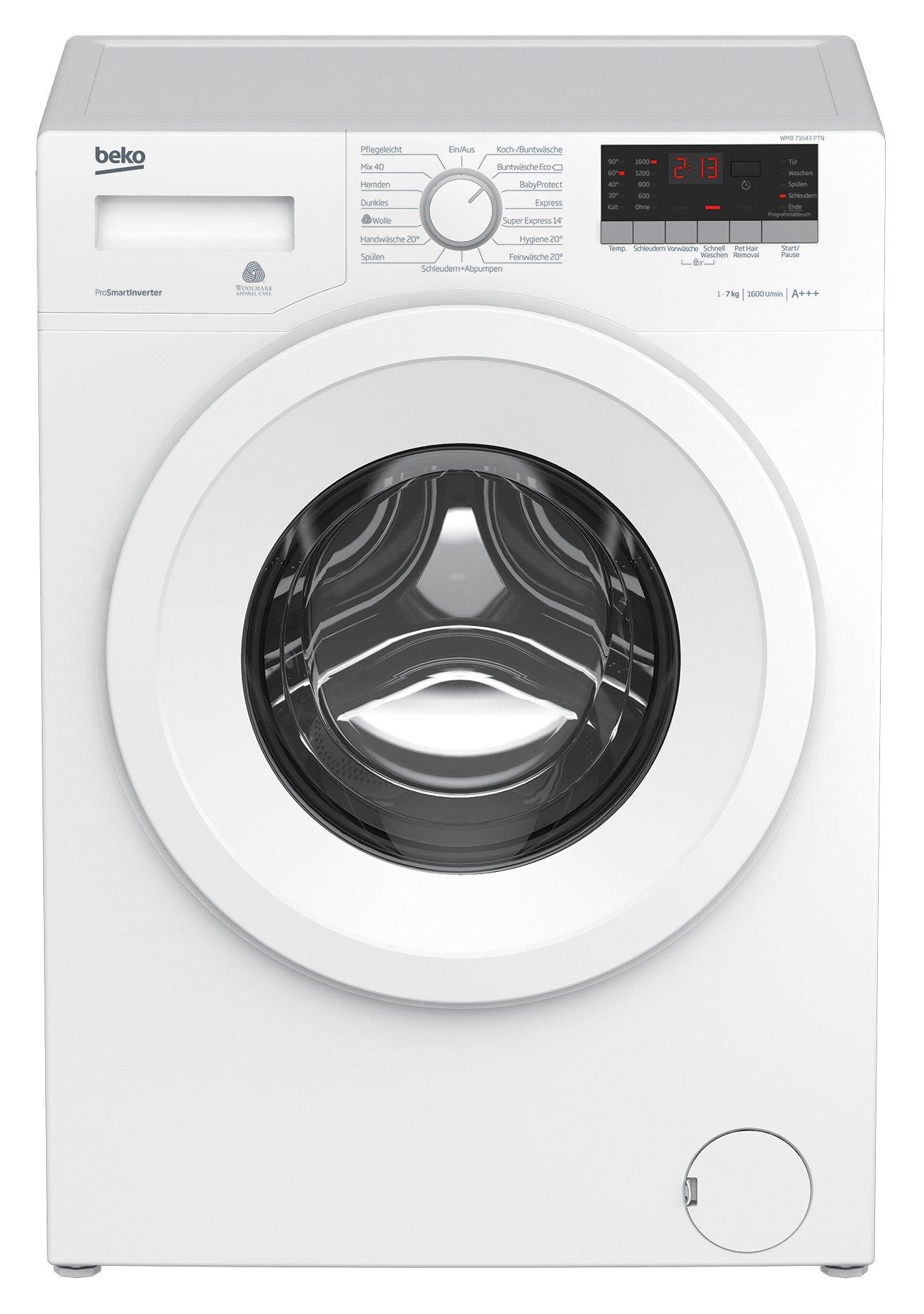 Beko WMB 71643 PTN Waschmaschine Frontlader, 7kg Füllmenge, Super Express 14