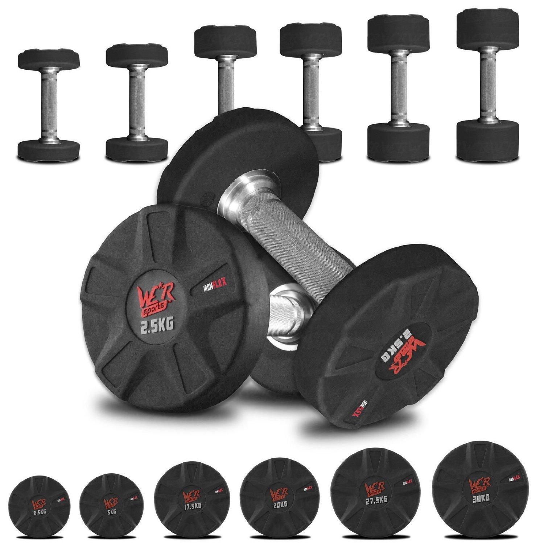 Ironflex Di Gomma Incassato Ergo Manubrio Pesi Palestra Peso Sollevamento Fitness Allenamento 2.5kg