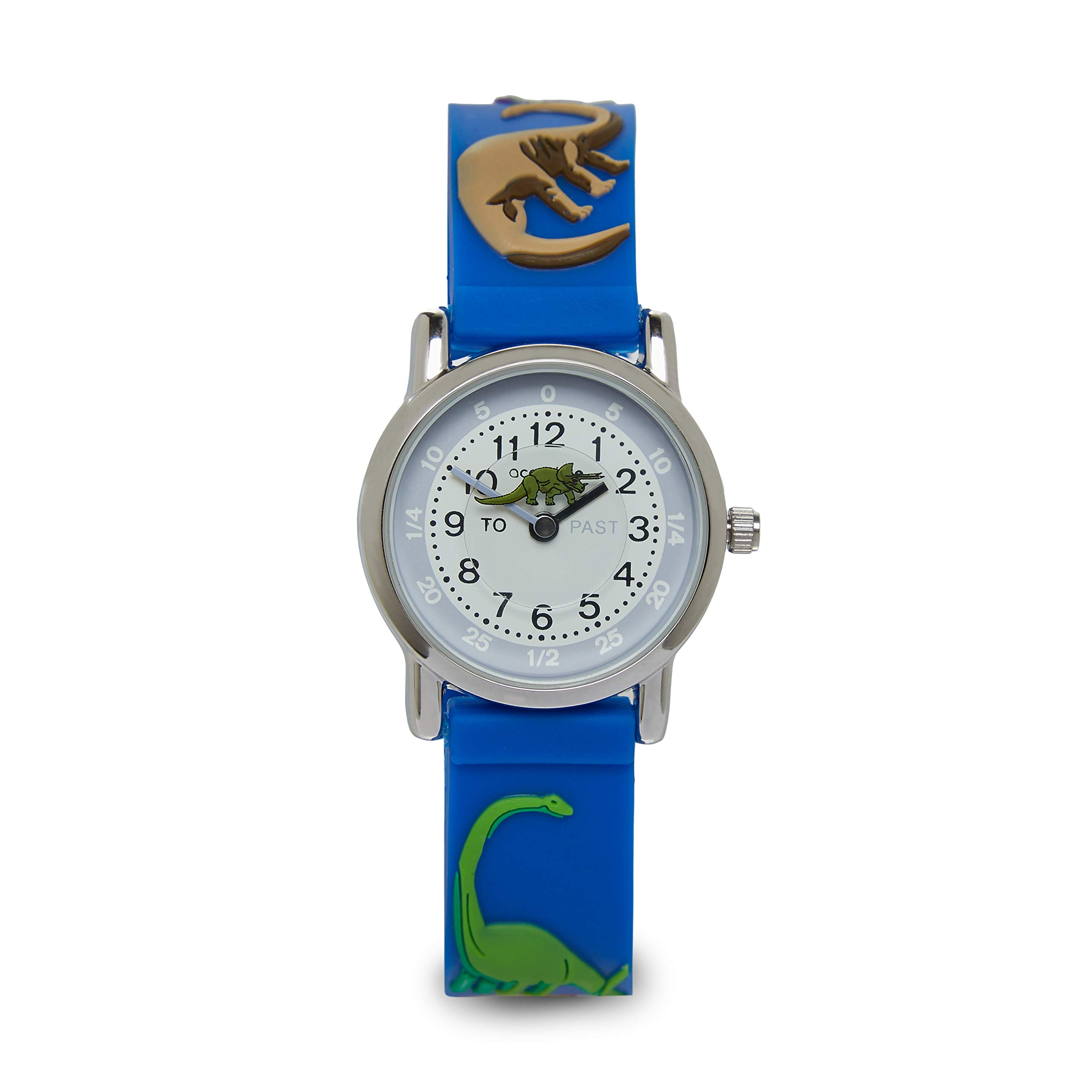 Accutime Children's 3D Dinosaur Easy Read 30m Water Resist Time Teacher Watch
