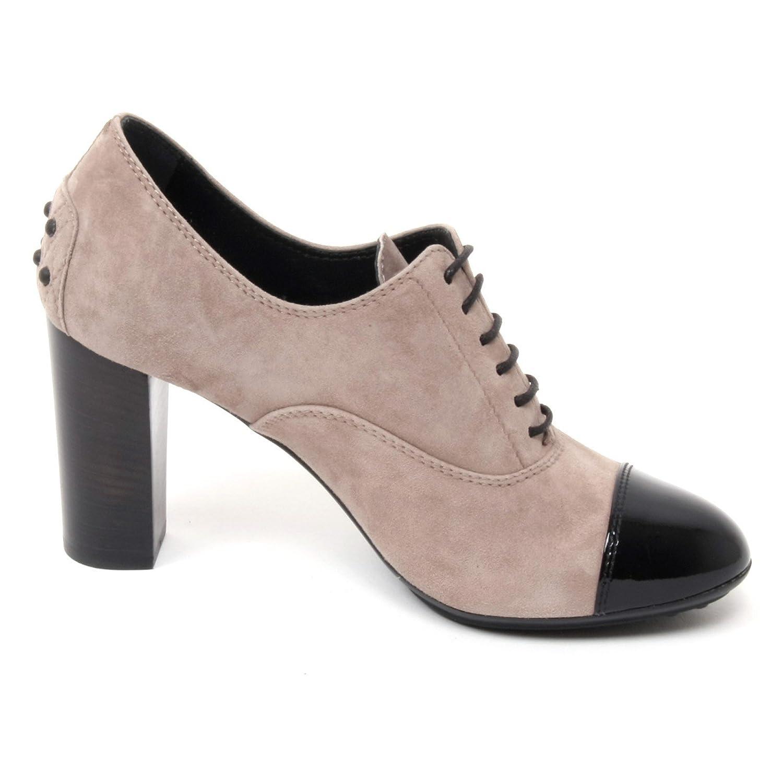 B4816 francesina donna TOD'S scarpa n. tacco 90 tortora/nero shoe woman:  Amazon.it: Scarpe e borse