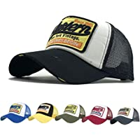 CheChury Cap Summer Half Mesh Hats for Men Women Embroidered Baseball Cap Casual Hats Hip Hop Trucker Caps Washed Cap
