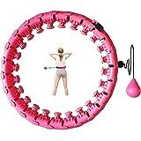 Hoelahoep, hoelahoep, voor volwassenen, hoelahoep met massagenoppen en 24 afneembare onderdelen, hoelahoep voor beginners, fi