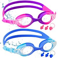 COOLOO Kids Swimming Goggles, 2-PACK Swimming Goggles Kids 6-14, Anti-Fog, UV Protection, NO Leaking Adjustable Silicon…