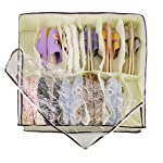New High Quality 12 Grid Shoebox Folding Transparent Organizer Holder Non-Woven Fabric Home Shoes Underwear Bra Storage