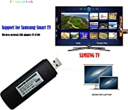 USB TV Wireless Wi-Fi Adapter, 802.11ac 2.4GHz and 5GHz dual-band Wireless Network USB Wifi Adapter for Samsung Smart TV WIS
