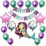 Sirena Globo, Decoraciones de Fiesta de Sirena Globos Cumpleaños Globos de Látex de Sirena Morado de Látex Verde Globo de Pap