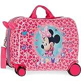 Disney Minnie Help on The Day Maleta Infantil Rosa 50x38x20 cms Rígida ABS Cierre combinación 34L 2,1Kgs 4 Ruedas Equipaje de