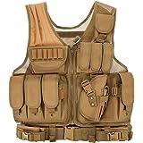 Lixada Tactisch vest heren outdoor vest met zakken - tactisch vest voor jacht vissen camping