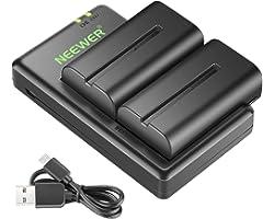 Neewer 2 baterías de Ion de Litio de 2600 mAh para Sony NPF550, 570, 530, adecuadas para Sony HandyCams Neewer CN-160, CN-216