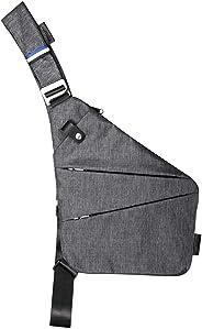 Mens Shoulder Crossbody Chest Bag Classic Sling Slim Backpack Multipurpose Daypack Right-hand
