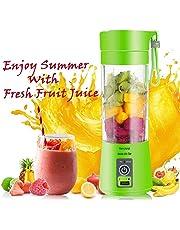 Weltime Rechargeable Portable Electric Mini USB Juicer Bottle Blender for Making Juice, Shake, Smoothies, Travel Juicer for Fruits and Vegetables, Fruit Juicer for All Fruits, Juice Maker Machine