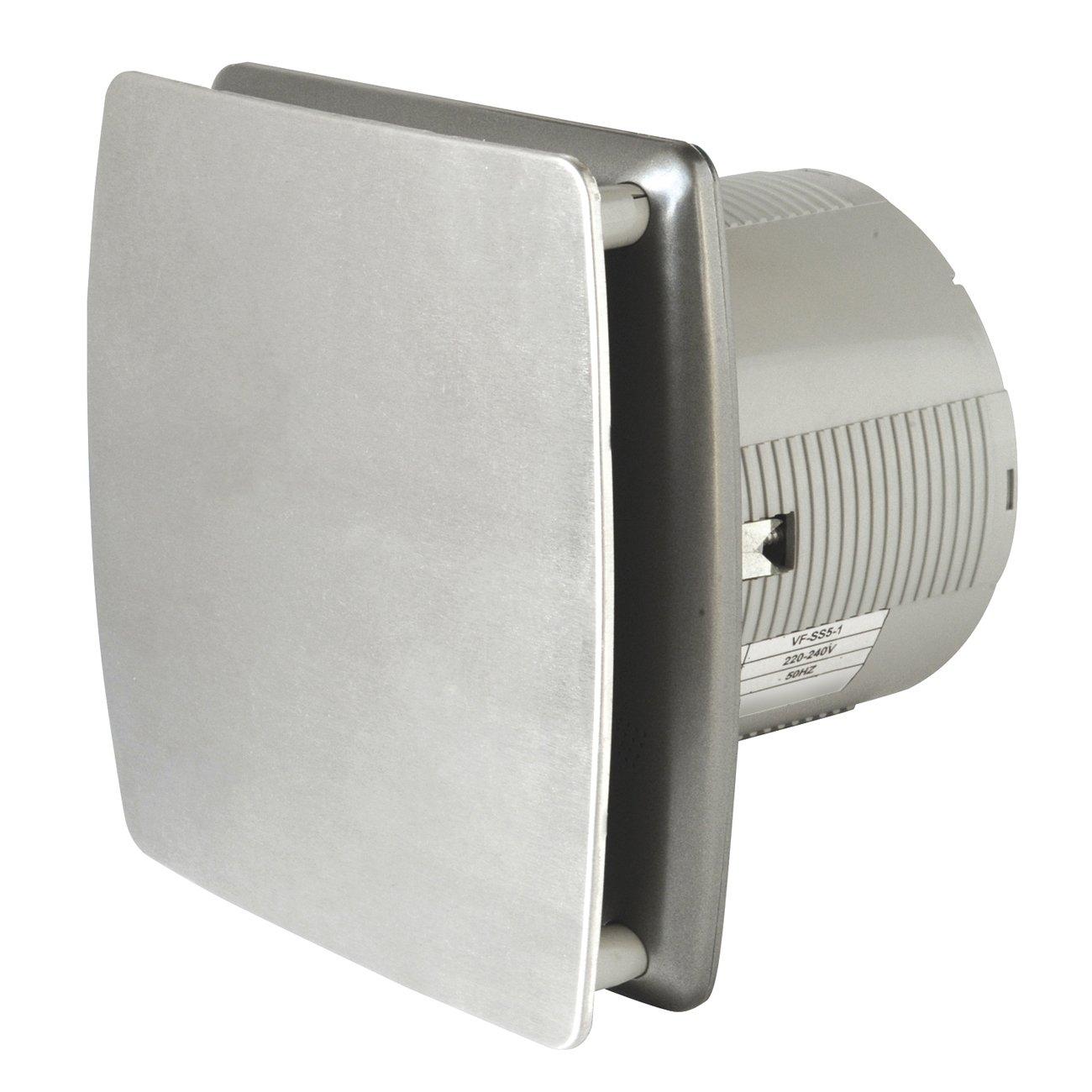 La Ventilazione AA10IN Aspiratore Elicoidale Estetico Grigio, per Foro diametro 100 mm / 4