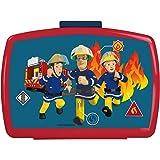P:os 26361 Boîte à lunch, pour garçons et filles, avec insert, au motif de Sam le pompier, environ 16 x 12 x 6,5cm, en plast