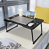 Bureau pour ordinateur portable Astory avec poignée, plateau pour ordinateur portable, support de lecture avec pattes pliante